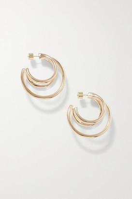Jennifer Fisher Triple Lilly Gold-plated Hoop Earrings
