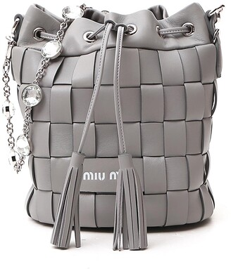 Miu Miu Crystal Strap Bucket Bag