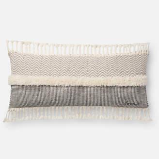 Lulu & Georgia Louret Lumbar Pillow, Gray, ED Ellen DeGeneres Crafted by Loloi
