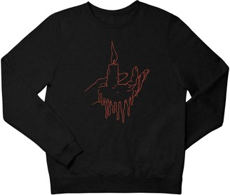 Love Your Mom Red Light Black Unisex Sweatshirt
