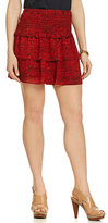MICHAEL Michael Kors Sunari Labyrinth-Print Ruffle Tiered Skirt