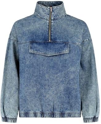 boohoo Zip Front Denim Pullover Jacket