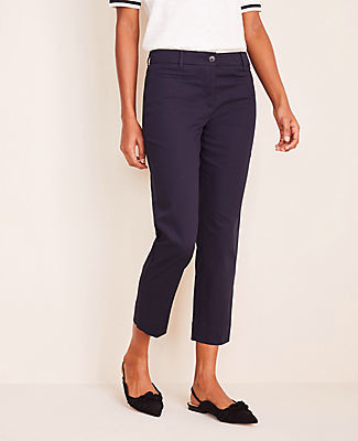 Ann Taylor The Petite Cotton Crop Pant