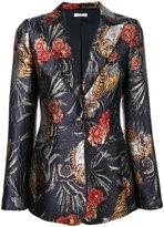 P.A.R.O.S.H. floral jacquard blazer