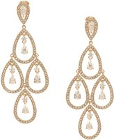 Nadri Cubic Zirconia Teardrop Chandelier Statement Earrings