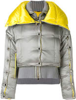 Versace button embellished puffer jacket