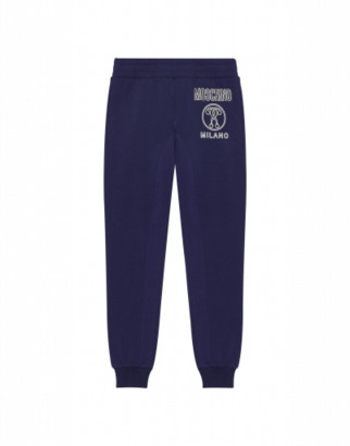 Moschino Double Question Mark Jogging Man Blue Size 4a It - (4y Us)