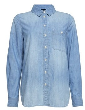 Dorothy Perkins Womens Blue Denim Shirt, Blue