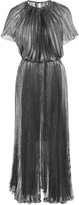Maria Lucia Hohan Zena Lurex Short Sleeve Pleated Dress