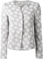 Armani Collezioni square print jacket - women - Cotton/Polyamide/Spandex/Elastane - 40
