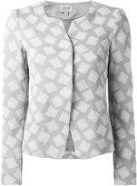 Armani Collezioni square print jacket - women - Cotton/Polyamide/Spandex/Elastane - 48