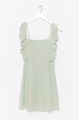 Nasty Gal Womens Live for the Frill Ruffle Mini Dress - Sage