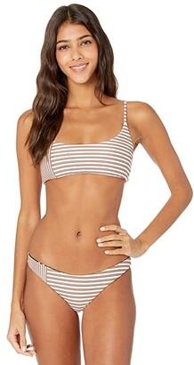 O'Neill Sunray Stripe Revo Pullover Bralette (Vanilla) Women's Swimwear