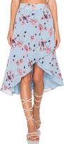 House Of Harlow x REVOLVE Maya Wrap Skirt in Blue. - size L (also in XL)