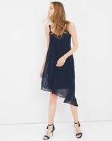White House Black Market Asymmetric Chiffon Midi Dress