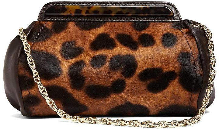 Brooks Brothers Leopard Haircalf Clutch