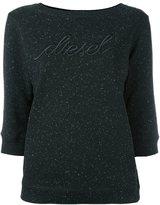 Diesel embroidered logo sweatshirt - women - Cotton/Polyester - L