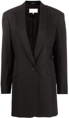 Maison Margiela Structured Shoulders Long Blazer