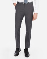 Express Slim Charcoal Gray Cotton Oxford Suit Pant