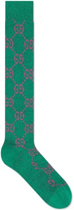 Gucci Lame GG socks