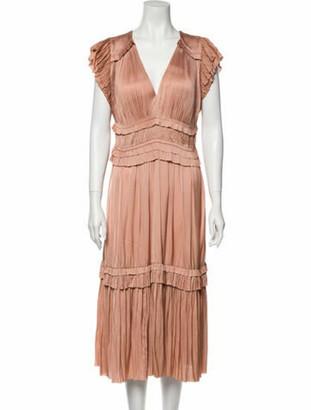 Ulla Johnson V-Neck Midi Length Dress