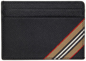 Burberry Black Stripe Kier Card Holder
