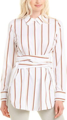 Lafayette 148 New York Cordelia Silk-Blend Blouse