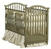 The Well Appointed House Madison Crib with Mouldings in the Versailles Green Finish