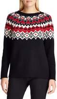 Chaps Petite Andrea Fair Isle Knit Sweater