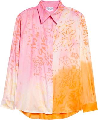 Collina Strada Sunny Tie Dye Button-Up Shirt