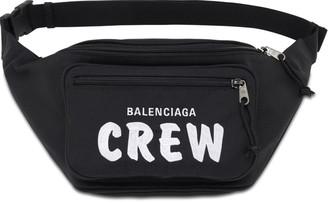 Balenciaga Logo Crew Embroidery Nylon Belt Bag