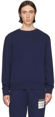 Maison Margiela Navy Elbow Patch Sweatshirt