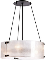 Rejuvenation Willamette Small Diamond Glass Chandelier