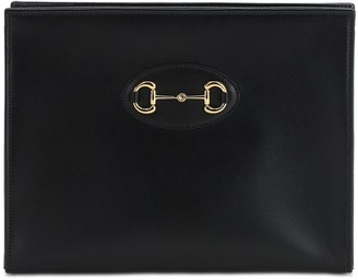 Gucci 1955 Horsebit Leather Pouch