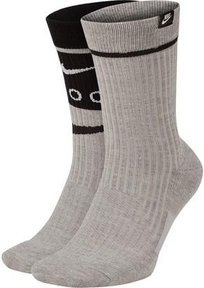 Nike Men's 2-pack SNKR Sox Swoosh Crew Socks
