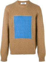 MSGM square print jumper