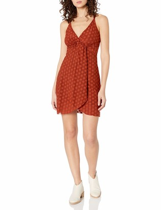 J.o.a. Women's Front Twist Knit Short Dress