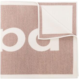 Paco Rabanne Jacquard Logo Knit Large Scarf