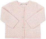 Bonpoint Cable-Knit Cardigan-PINK