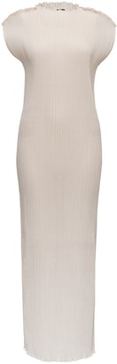 Jil Sander Boat Neck Ribbed Dress