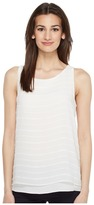 Vince Camuto Sleeveless Sheer Embroidered Stripe Blouse Women's Blouse