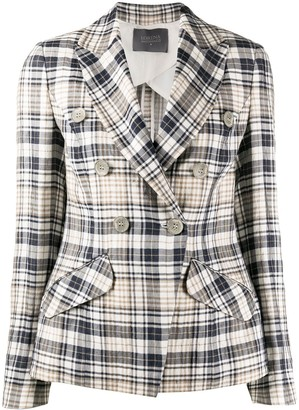 Lorena Antoniazzi Plaid Patterned Double-Breasted Blazer