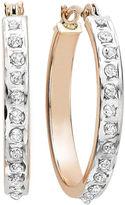 FINE JEWELRY Diamond Fascination 14K Rose Gold Round Hoop Earrings