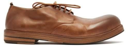Marsèll Zucca Zeppa Leather Derby Shoes - Mens - Tan