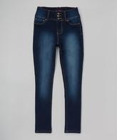 YMI Jeanswear Dark Wash High-Waist Skinny Jeans - Girls