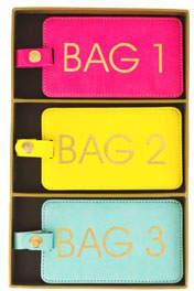 Eccolo Vegan Leather Luggage Tags, Set of 3