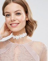 Asos Occasion Flower Choker Necklace