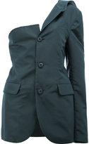 Moohong - asymmetric buttoned blazer - women - Silk/Cotton - 38