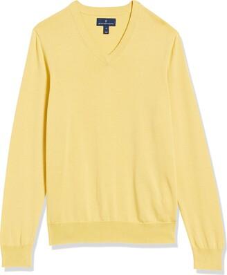 Buttoned Down Amazon Brand Men's 100% Supima Cotton V-Neck Sweater