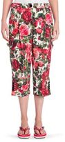Dolce & Gabbana Floral Cropped Pants